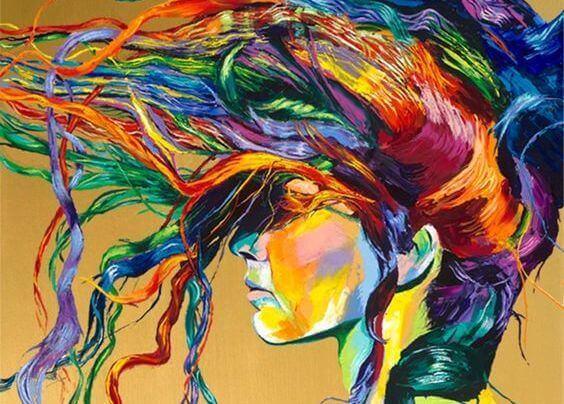 värikkäät hiukset