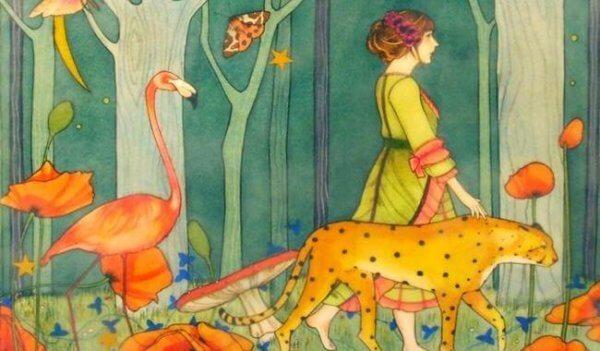 nainen ja eläimet