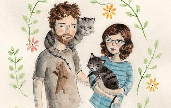pariskunta ja kissat