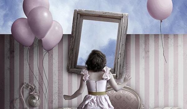 tyttö ja peili