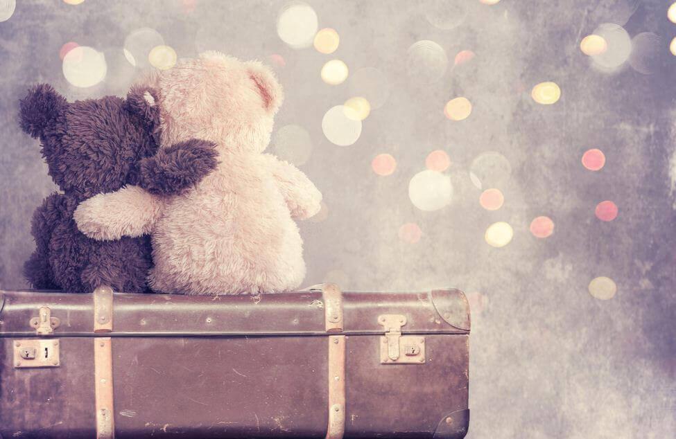 nallet ja matkalaukku