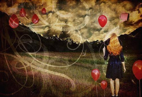 tunneriippuvuus nainen ja ilmapallot