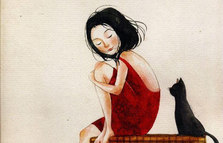 oma itsesi ja kissa
