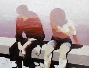 mies ja nainen istuvat