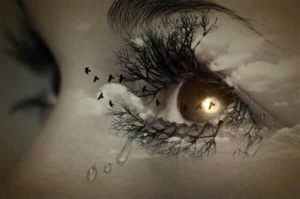 kyyneleet eron jälkeen
