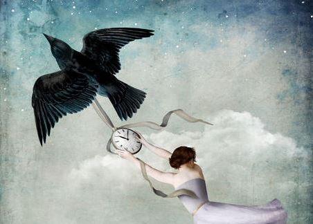 lintu nainen ja kello