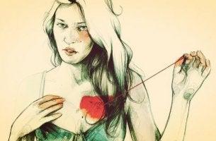 sydämen ompelua