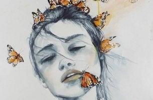 perhosnainen