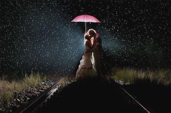 suudelma sateessa