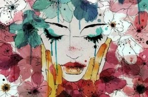 värikäs nainen