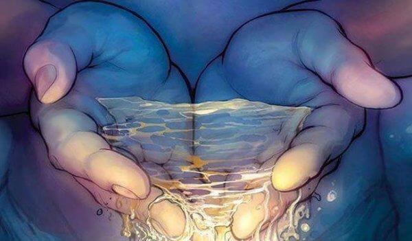 vettä käsissä