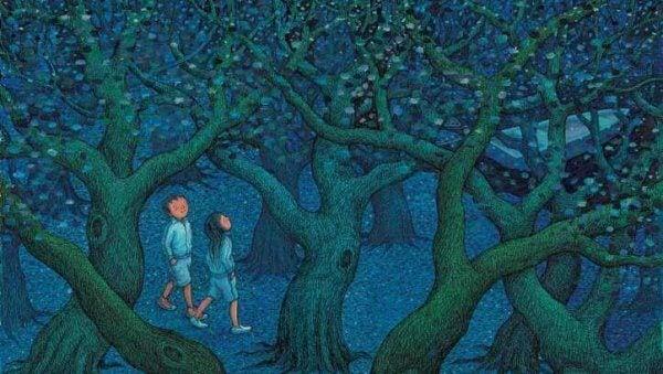 lapset metsässä
