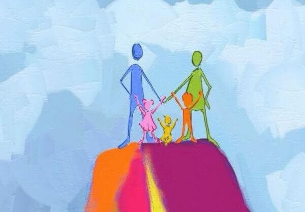 iloinen perhe