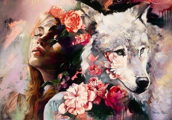 tyttö ja susi