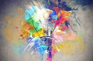 luovuus värikäs hehkulamppu