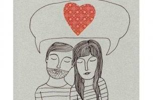 pariskunta ajattelee sydäntä