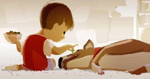 Side lasten ja lemmikkien välillä