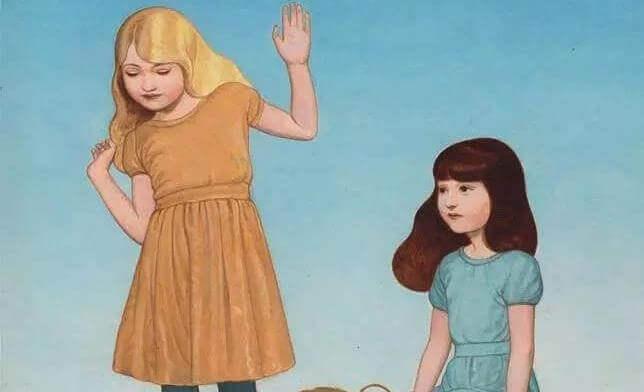 kaksi tyttöä