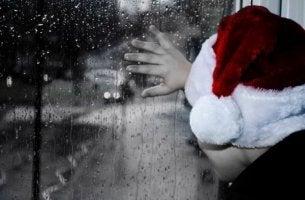 odottaa joulupukkia