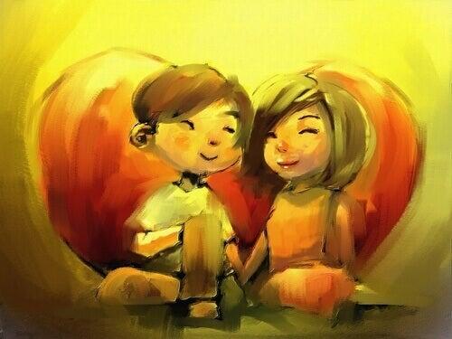 hymyilevä pariskunta