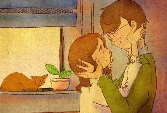 rakastunut pariskunta