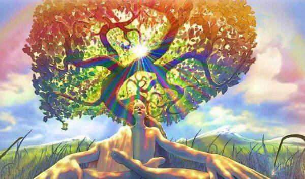 nainen ja puu
