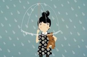 ylpeys ja sateenvarjo