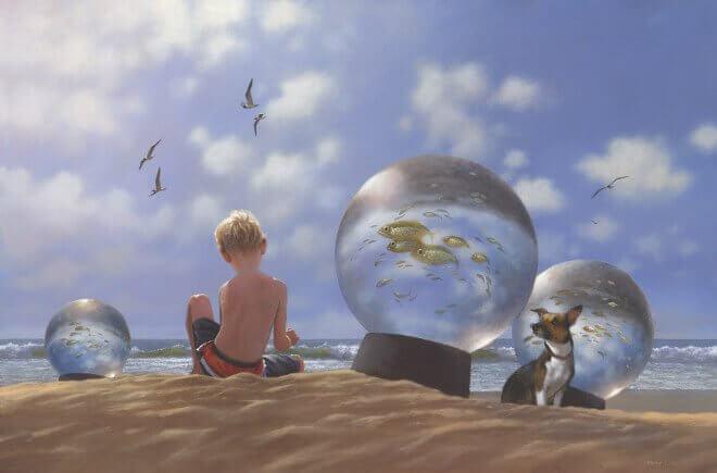 lapset leikkivät rannalla