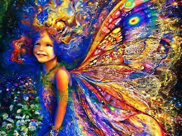 Värikäs perhoslapsi