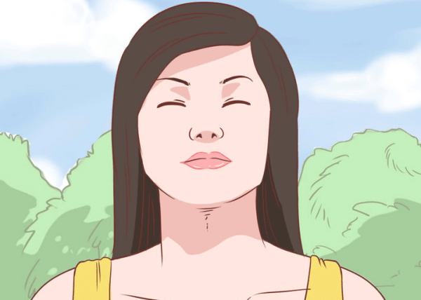 nainen luonnossa