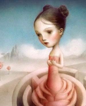 tyttö labyrintissä