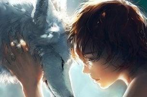 tyttö ja susi antaa periksi