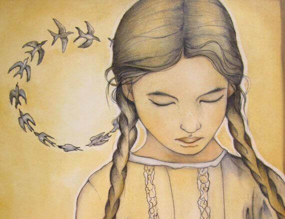 tyttö ja linturinki