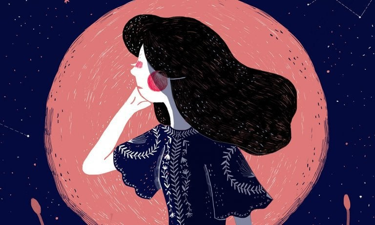 nainen ja kuu