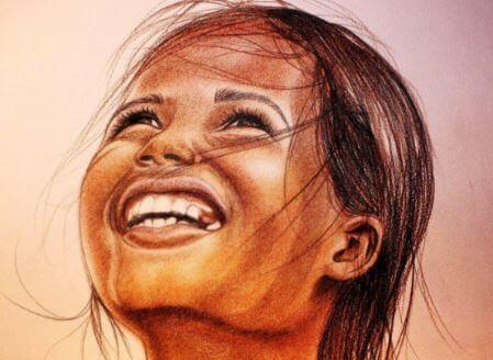 Hymyilevä tyttö