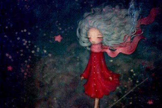 Tyttö punaisessa takissa
