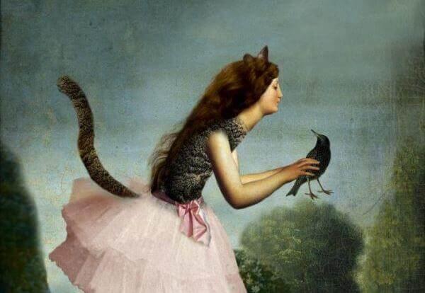 Kissaksi muuttunut tyttö