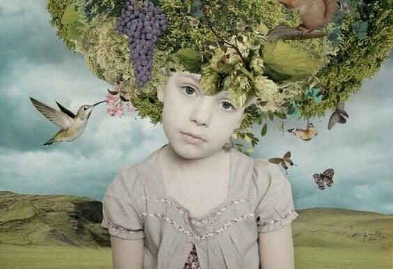lapsen pää on luonto