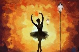 balettitanssija katulampun valossa