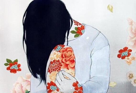 kukat naisen iholla