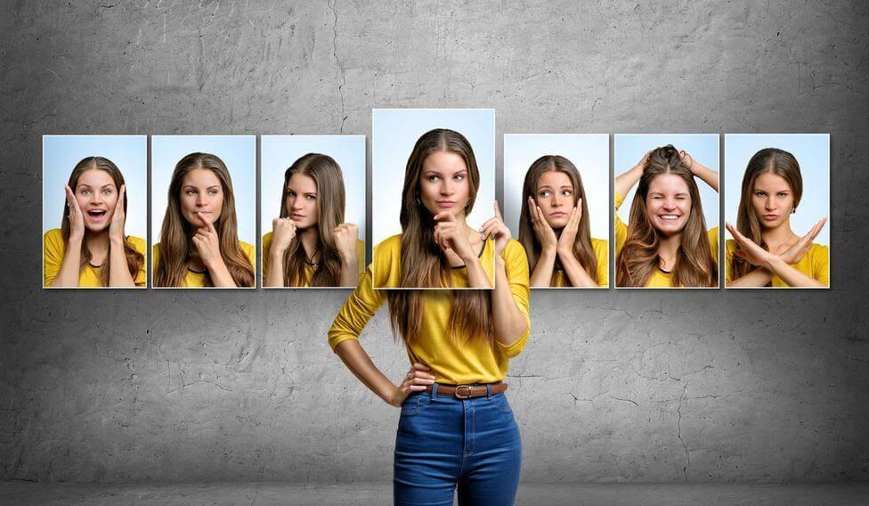 naisen erilaiset tunteet