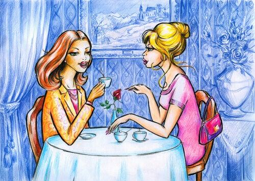 naiset kahvilla