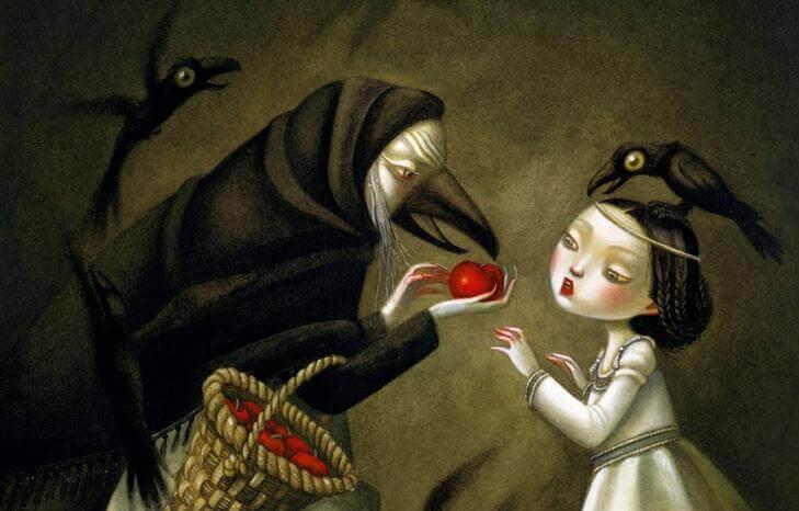 noita ja tyttö ja omena