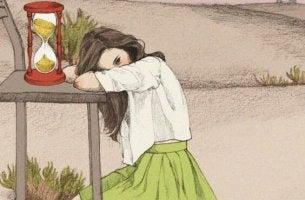 onneton tyttö ja tiimalasi
