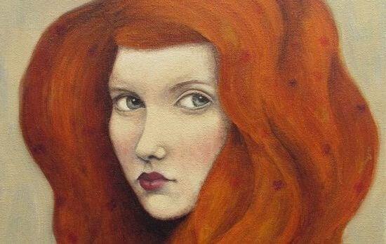 punatukkainen nainen