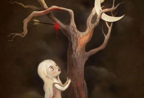 puu vuotaa verta