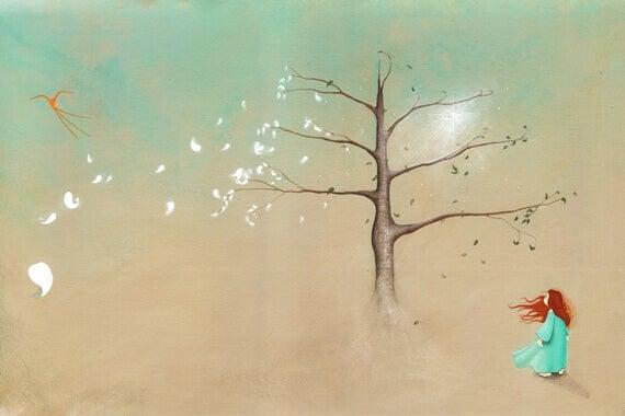 lehdet lentävät puusta