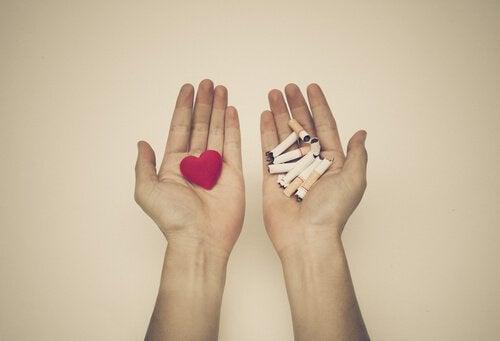 sydän motivoi lopettamaan tupakoinnin