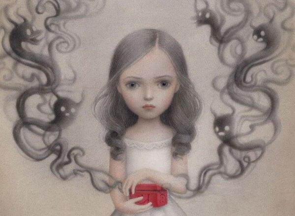 Tyttö ja pimeät salaisuudet