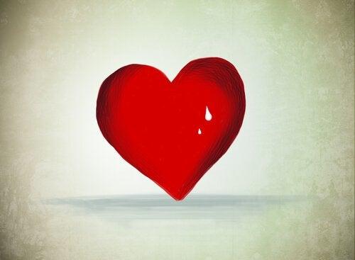 sydän hikoilee